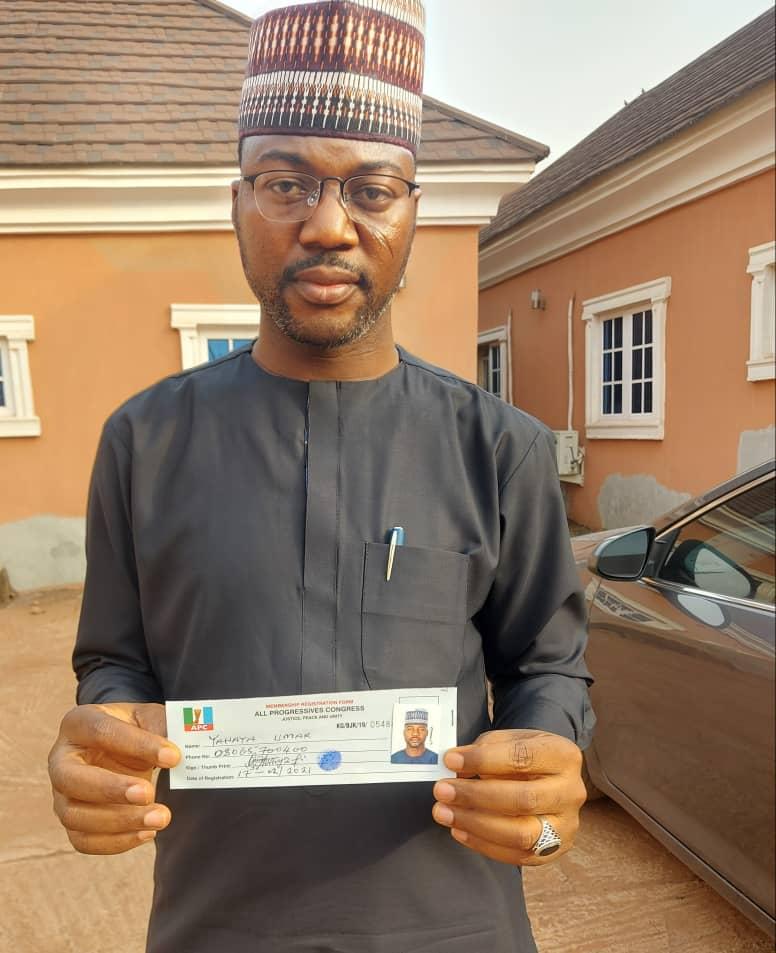Umar Yahaya Revalidates APC Membership, Urges Party Faithfuls In Omala To Register Massively.